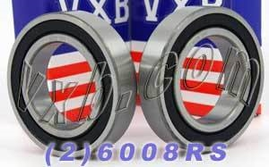 2 Bearing 6008RS 40x68x15 Sealed