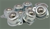 2 Holes Flange Ball Transfer Unit pack of 10 Mounted Bearings