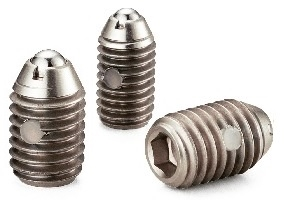 NBK Made in Japan MP-12 Miniature Stainless Steel Heavy Load Ball Plunger with Vibration Resistant Treatment