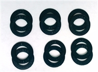 A Pack of 12 Black seals for 608 Bearings