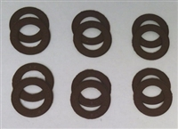 A Pack of 12 Brown seals for 608 Bearings