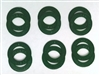A Pack of 12 Green seals for 608 Bearings