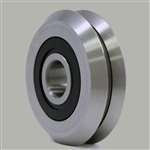 4-PIECES RM2-2RS 3/8'' Roller Ball Bearing V Groove Rubber Sealed Line Track Roller Bearing