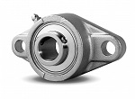 "5/8"" Stainless Steel Bearing SSUCFL202-10 + 2 Bolts Flanged Housing Mounted Bearings"