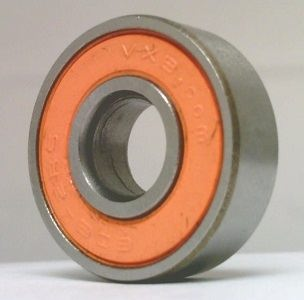 608-2RS 8x22x7 Bearing :Black Seals:Greased:Low Friction