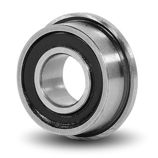 "10 Flanged Bearing SFR156-2RS 3/16""x5/16""x1/8"" inch Sealed Bearings"