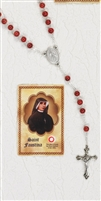 DIVINE MERCY Rosary & Relic Prayer Card