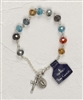 Multi Color REAL Crystal Rosary Bracelet