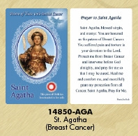 Healing Saints Relic Cards - Agatha