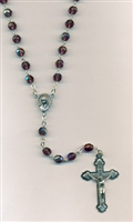 6mm Amethyst Glass Rosary