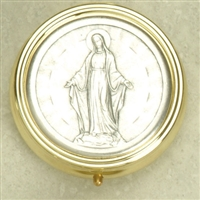 Silver Plated with Lady of Miraculous