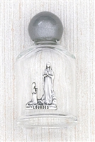 Our Lady of Lourdes Holy Water Glass Bottle