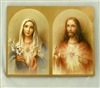 Holy Hearts of Jesus and Mary Plaque