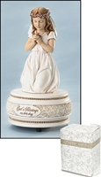 First Communion Musical Figurine Girl