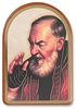 St Pio Gold Stamped Wall Plaque