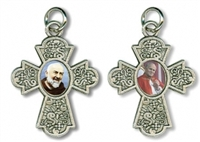 Saint Pio and Saint John Paul II Devotional Cross