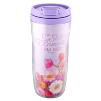 Polymer Travel Mug: Be Still and Know - Psalm 46:10