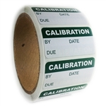 "Writable Green Calibration Label - 1"" by 2"" - 500 ct"
