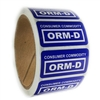 "Blue ""Consumer Commodity ORM-D"" Label - 1"" by 2"" - 500 ct"
