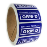 "Blue Glossy ""Consumer Commodity ORM-D"" Label - 1"" by 2"" - 500 ct"