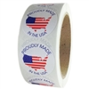 "American Flag Map ""Proudly Made in the USA"" Circle Label - 1.5"" - 500 ct"