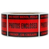 "Red ""Photos Enclosed"" Label - 2"" by 3"" - 500 ct"