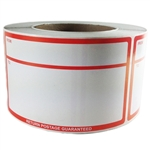 "Red Writable ""From To Return Postage Guaranteed"" Label - 3"" by 5"" - 500 ct"