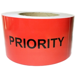 "Red ""Priority"" Labels - 3"" by 5"" - 500 ct"