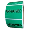 "Green ""Approved"" Label - 1.625"" by 2"" - 500 ct Roll"