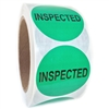 "Green ""Inspected"" Label - 2"" diameter - 500 ct. Roll"