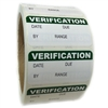 "Green Writeable ""Verification"" Labels - 1"" by 2"" - 500 ct"