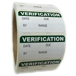 "Green Writable ""Verification"" Labels - 1"" by 2"" - 500 ct"