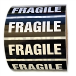 "Black and White Glossy ""Fragile"" Sticker Label - 1"" by 3"" - 500 ct"