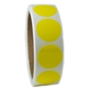 "Glossy Yellow Circle Sticker - 1"" diameter - 500 ct"