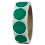 "Glossy Green Circle Sticker - 1"" diameter - 500 ct"