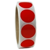 "Glossy Red Circle Sticker - 1"" diameter - 500 ct"