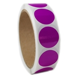 "Glossy Purple Circle Sticker - 1"" diameter - 500 ct"