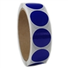 "Glossy Blue Circle Sticker - 1"" diameter - 500 ct"