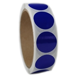 "Blue Glossy Circle Sticker - 1"" Diameter - 500 ct"