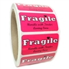 "Pink ""Fragile Handle with Tender Loving Care"" Label - 1"" by 2"" - 500 ct"