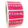 "Pink ""Fragile Handle with Tender Loving Care"" Label - 1"" by 2"" - 1000 ct"