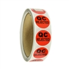 "Red ""QC Rejected"" Label - 1"" diameter - 500 ct Roll"