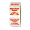 "Red ""Sale Price"" Labels Stickers - 1.5"" diameter - 500 ct Roll - SL073F"
