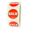 "Red and White ""SALE"" Labels Stickers - 1.5"" diameter - 500 ct Roll"