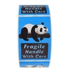 "Blue Panda ""Fragile Handle with Care"" Stickers - 3"" by 2"" - 500 ct"