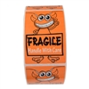 "Orange Alien ""Fragile Handle with Care"" Stickers - 3"" by 2"" - 500 ct"