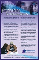 """Essential Beliefs for Reducing Poverty"" Poster"