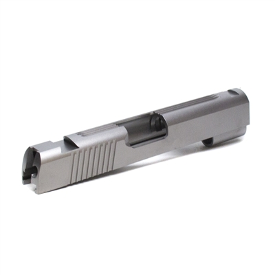 1911 Commander 40 S&W/10mm Stainless Slab Slide with Rear and Top Serrations with Novak Sights