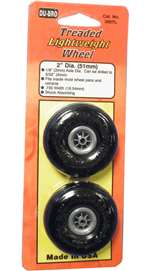 "2"" Du-Bro Wheels (treaded)"