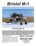 Bristol M-1 Plans and Instruction Manual
